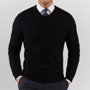 Black V Neck Sweater - Gentlemen's Crate