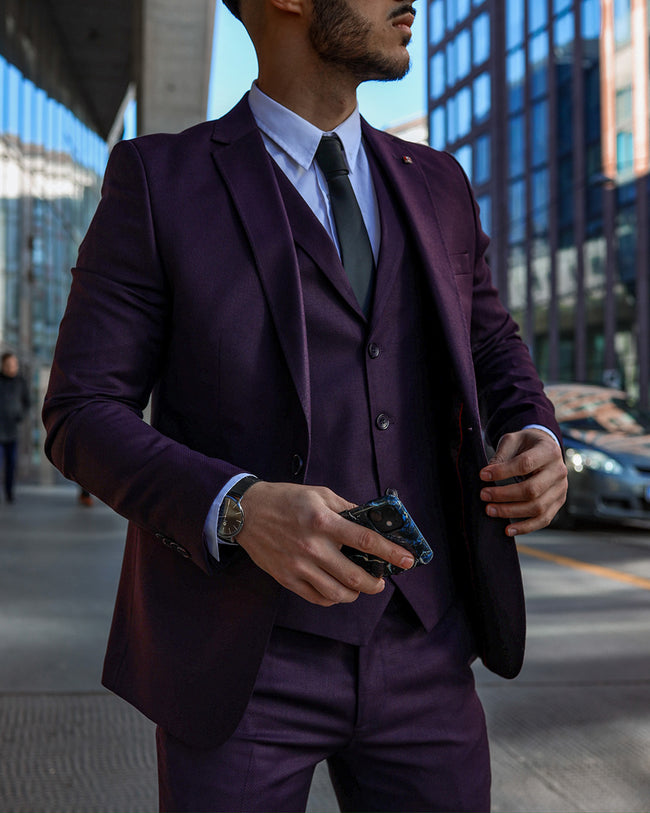 Dark Burgundy 3 Piece Suit