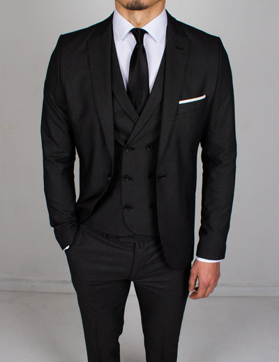 Dark Charcoal 3 Piece Suit - Gentlemen's Crate