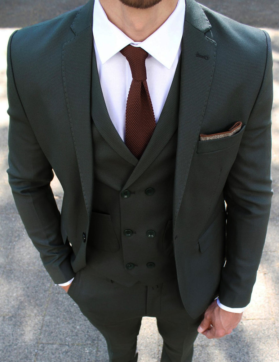 Dark Green 3 Piece Suit - Gentlemen's Crate