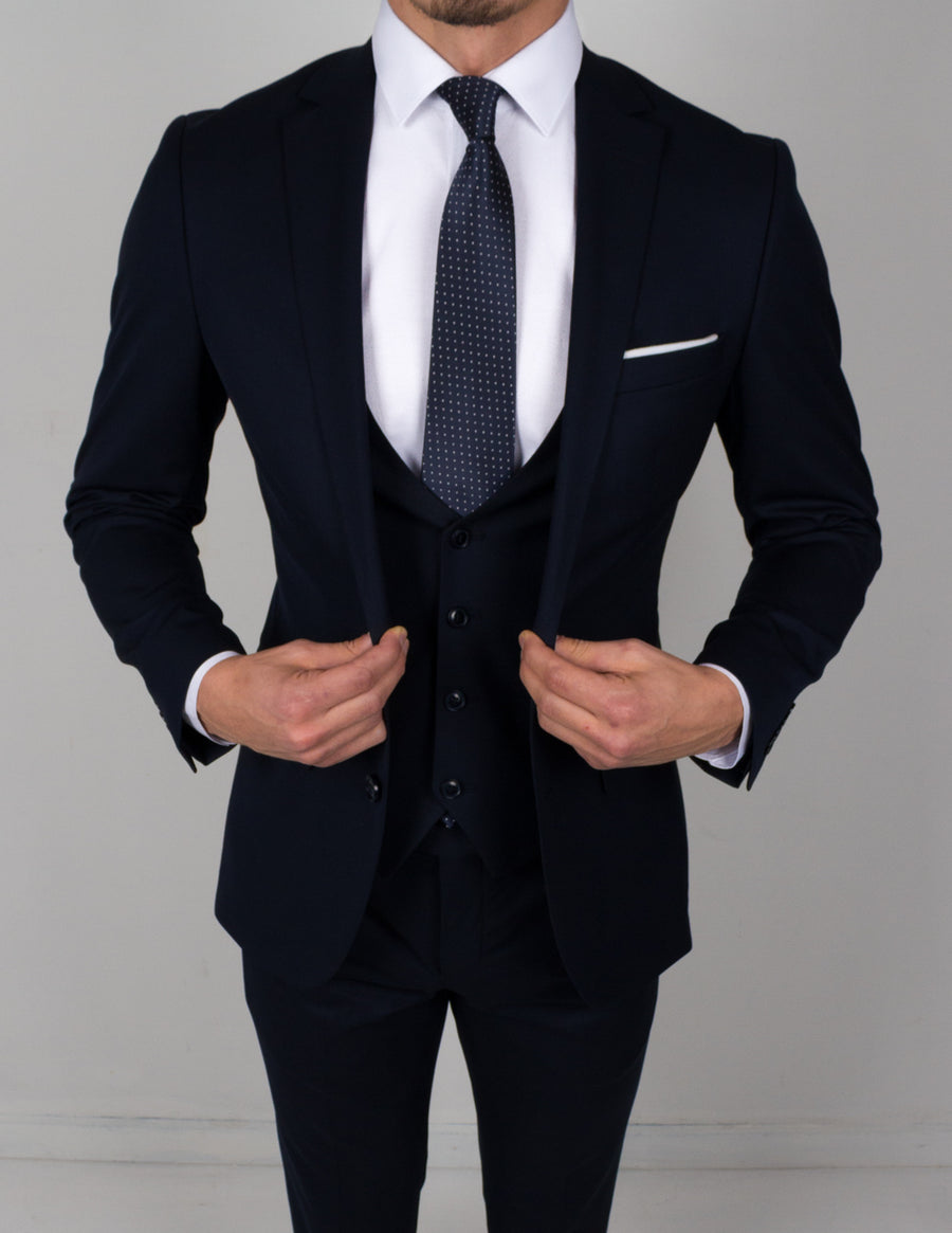 Dark Navy 3 Piece Suit - Gentlemen's Crate