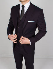 Dark Purple 3 Piece Suit - Gentlemen's Crate