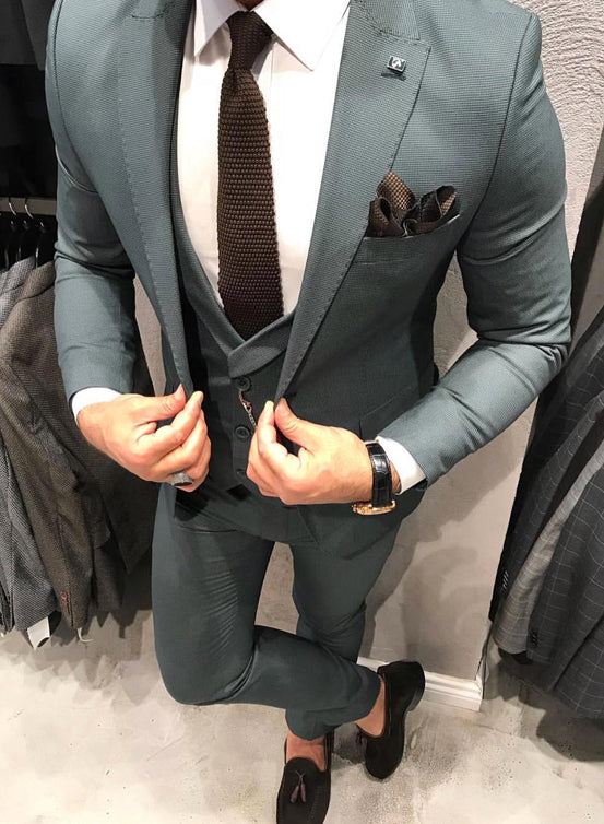 Viridian Green 3 Piece Suit - Gentlemen's Crate