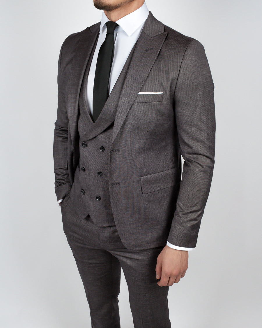 Gray Charcoal 3 Piece Suit
