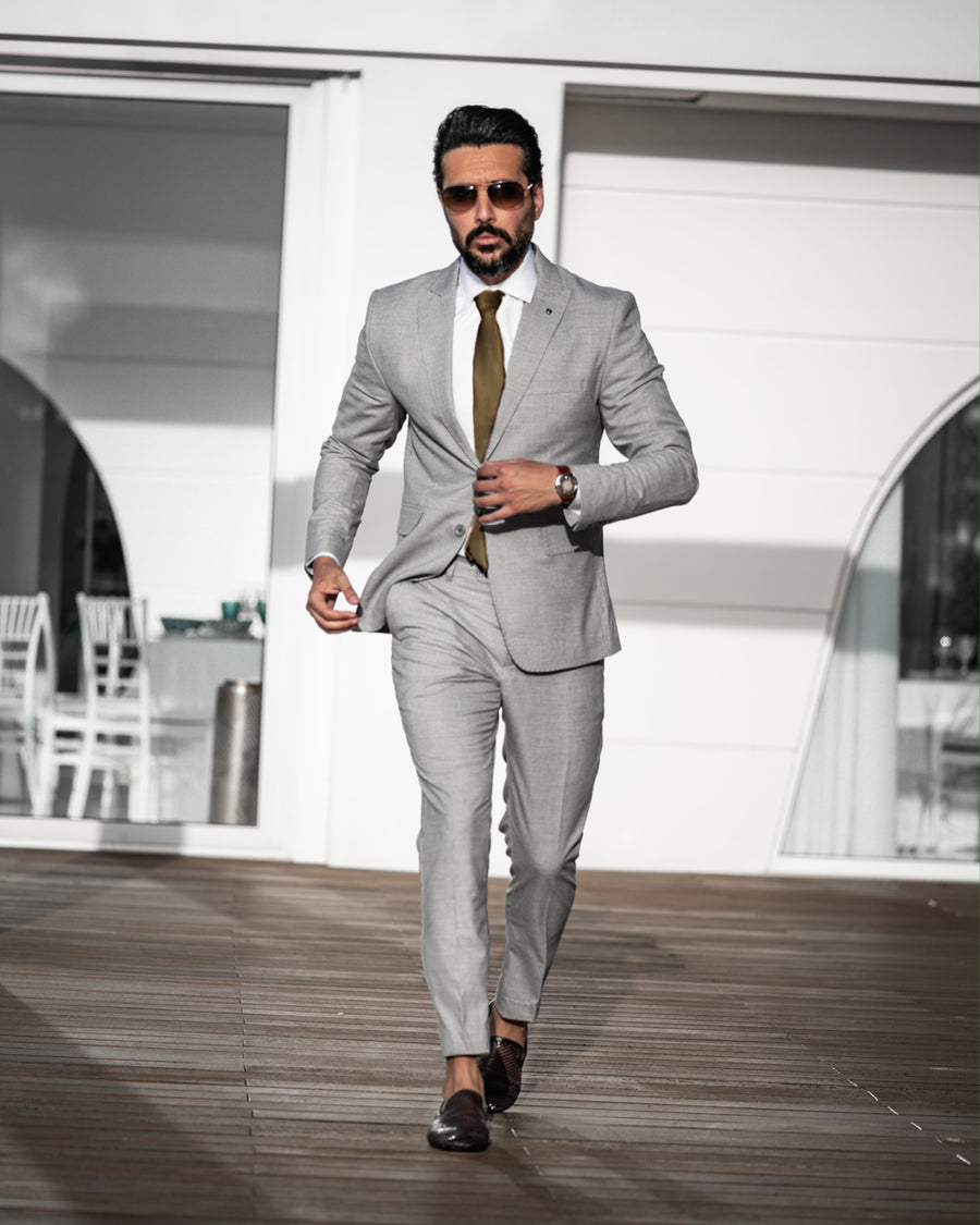 Light Gray 3 Piece Suit