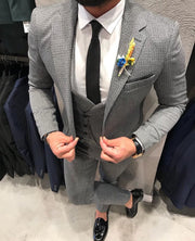 Grey 3-Piece (Jacket, Vest & Pants) - Gentlemen's Crate