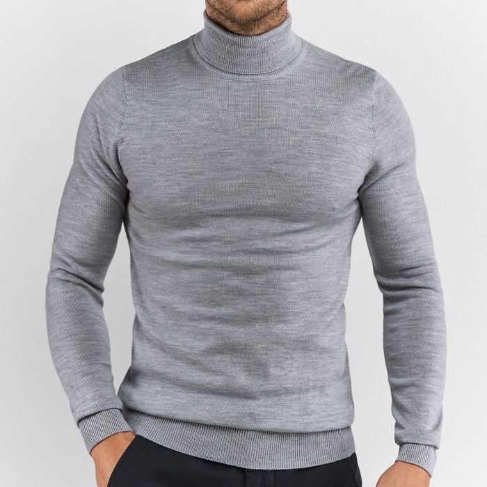 Light Grey Turtleneck - Gentlemen's Crate