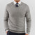 Light Grey V Neck Sweater - Gentlemen's Crate
