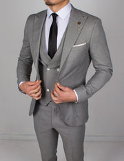Light Charcoal 3 Piece Suit - Gentlemen's Crate