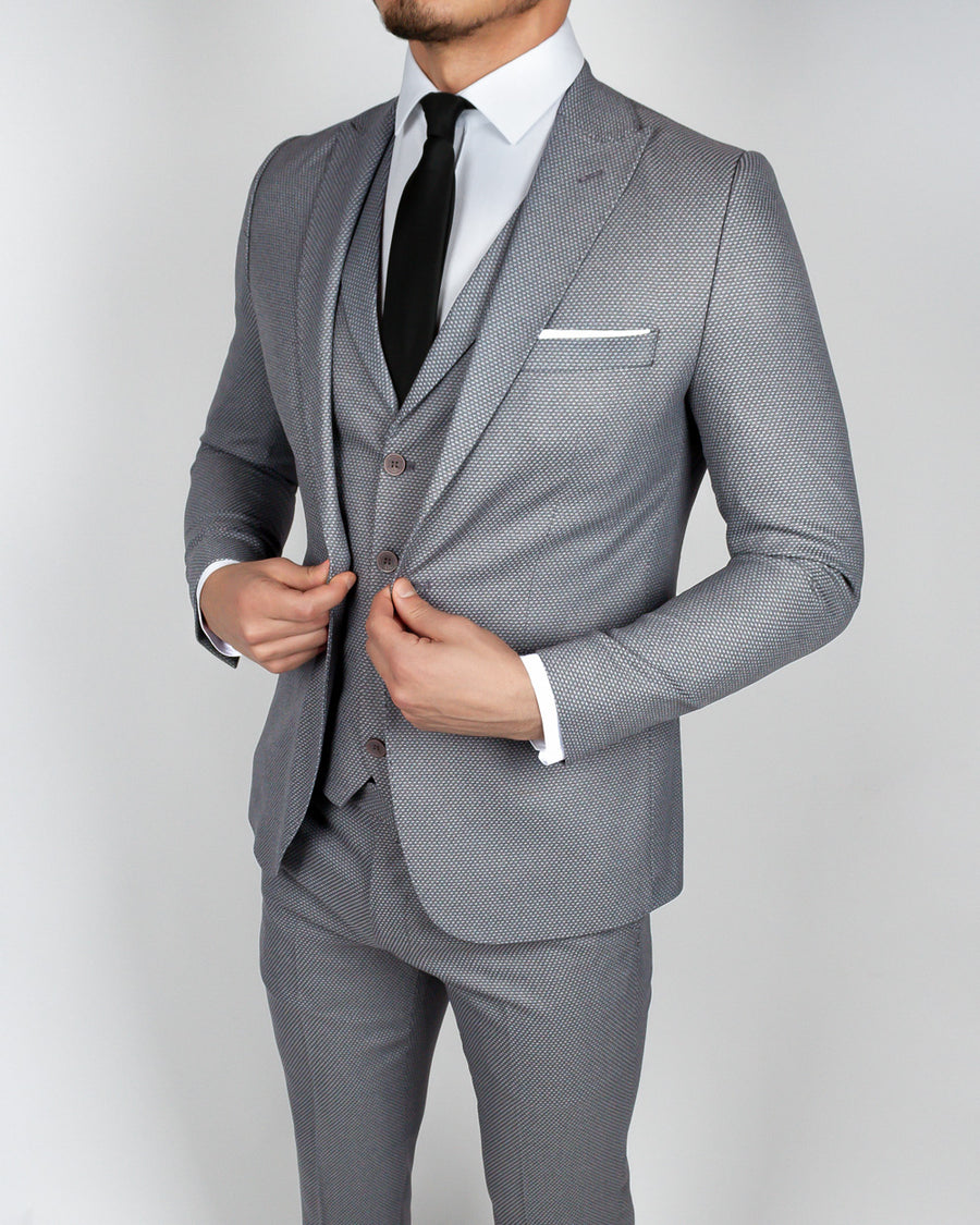 Napoli Gray 3 Piece Suit