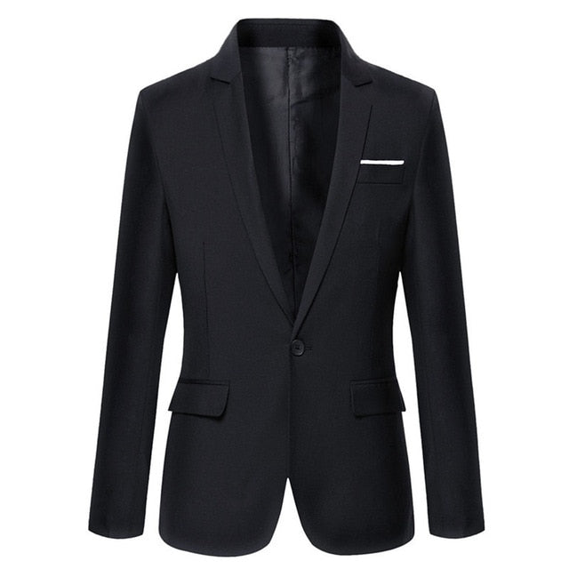 Black Slim Fit Blazer - Gentlemen's Crate
