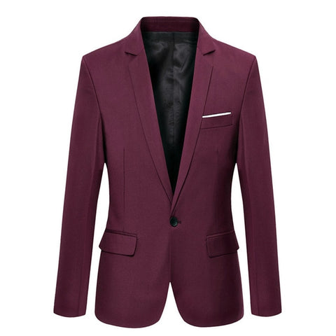 Burgundy Slim Fit Blazer - Gentlemen's Crate