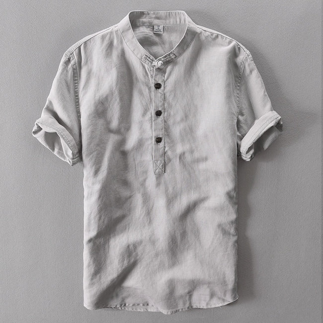 Gray Linen Shirt - Gentlemen's Crate