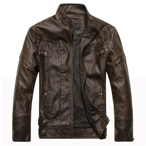 Dark Brown Chicago Leather Jacket - Gentlemen's Crate