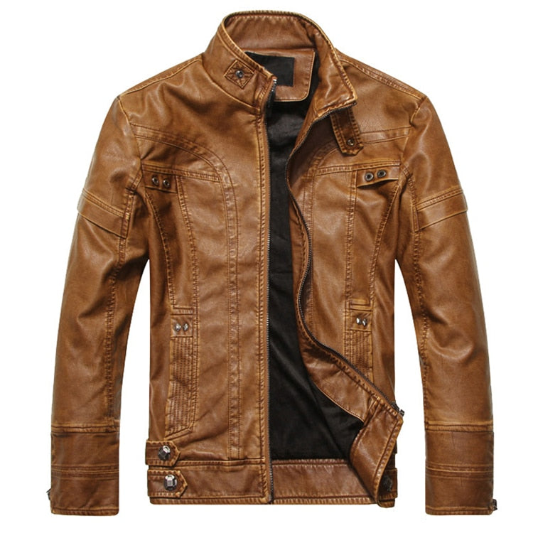 Light Brown Chicago Leather Jacket - Gentlemen's Crate
