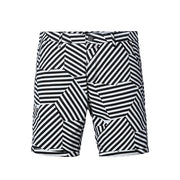 Black White Stripe Shorts - Gentlemen's Crate
