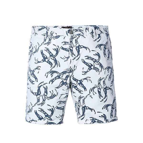 White Bird Print Shorts - Gentlemen's Crate