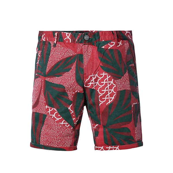 Red Print Shorts - Gentlemen's Crate