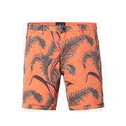 Orange Feather Print Shorts - Gentlemen's Crate