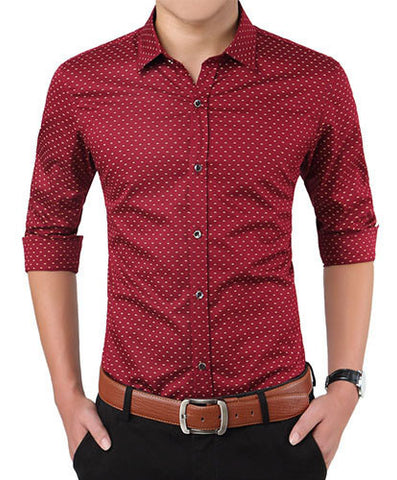 Red Dotted Shirt - Gentlemen's Crate