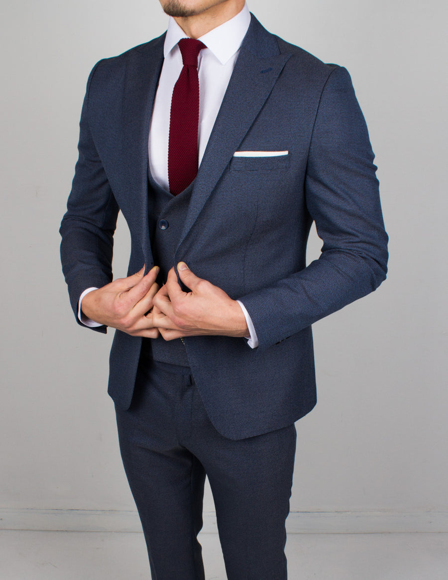 Royal Blue 3 Piece Suit - Gentlemen's Crate