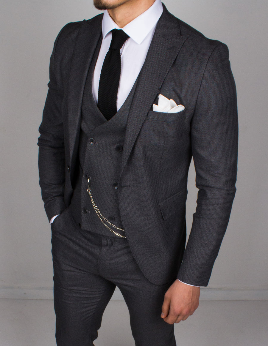 Royal Gray 3 Piece Suit - Gentlemen's Crate