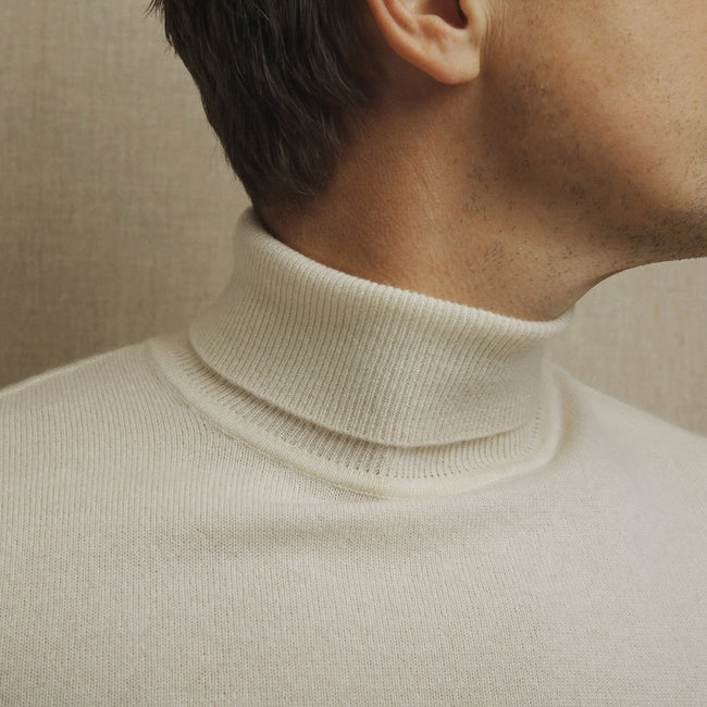 White Turtleneck - Gentlemen's Crate