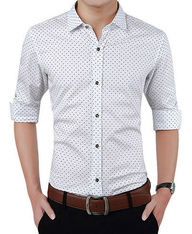 White Dotted Shirt - Gentlemen's Crate