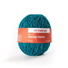 Load image into Gallery viewer, Trade Aid Hemp Twine (various) General Trade Aid Smokey aqua