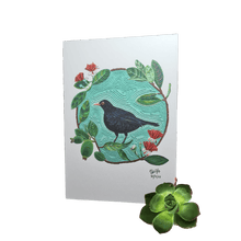 Load image into Gallery viewer, ECLO ART cards General Eclo Art Eurasian Black bird on feijoa tree