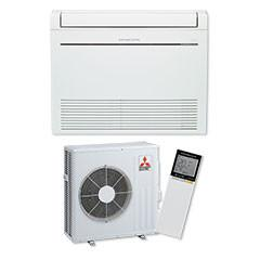 Mitsubishi Rapid Heat Floor Console Air Conditioner Heat Pump