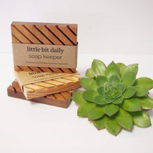 Load image into Gallery viewer, Little Bit Daily Soap Keeper (wood) Body Little Bit Daily