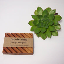 Load image into Gallery viewer, Little Bit Daily Soap Keeper (wood) Body Little Bit Daily Rimu