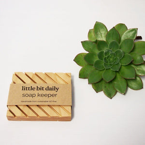 Little Bit Daily Soap Keeper (wood) Body Little Bit Daily Sustainably sourced NZ pine