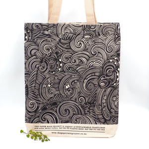 Paper Rain Project Hemp Tote Bag Body Paper Rain Project Waves