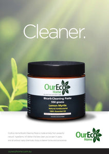 OURECO Bicarb Cleaning Paste (Lemon Myrtle) 550g Green Living SIMPLY S&SLTD (Our Eco Home)