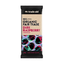 Load image into Gallery viewer, Trade Aid Chocolate Various 100g General Trade Aid Organic 55% dark raspberry