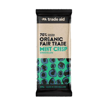 Trade Aid Chocolate Various 100g General Trade Aid Mint Crisp