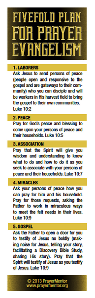 Five Fold Plan for Evangelism