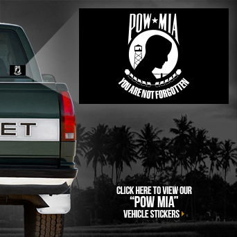 POW MIA Vehicle Sticker