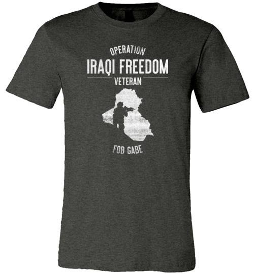 "Operation Iraqi Freedom ""FOB Gabe"" - Men's/Unisex Lightweight Fitted T-Shirt-Wandering I Store"