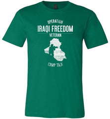 "Operation Iraqi Freedom ""Camp Taji"" - Men's/Unisex Lightweight Fitted T-Shirt-Wandering I Store"