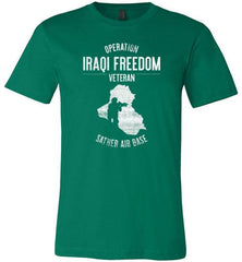 "Operation Iraqi Freedom ""Sather Air Base"" - Men's/Unisex Lightweight Fitted T-Shirt-Wandering I Store"