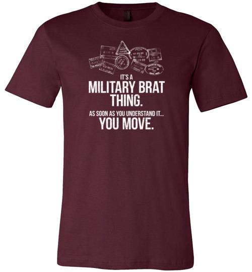 """Military Brat Thing"" - Men's/Unisex Lightweight Fitted T-Shirt-Wandering I Store"