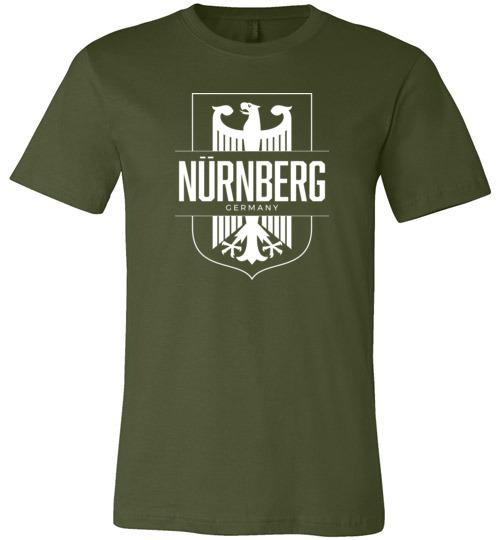 Nurnberg, Germany (Nuremberg) - Men's/Unisex Lightweight Fitted T-Shirt-Wandering I Store