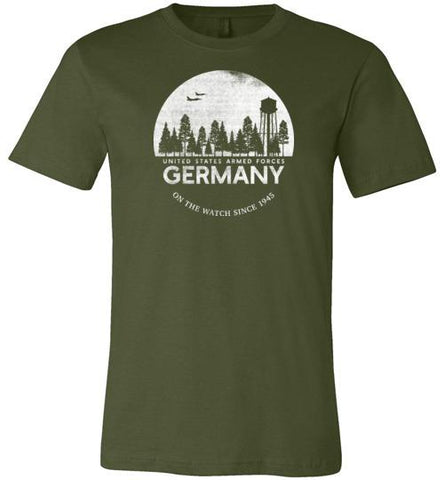 "U.S. Armed Forces Germany ""On The Watch Since 1945"" - Men's/Unisex Lightweight Fitted T-Shirt"