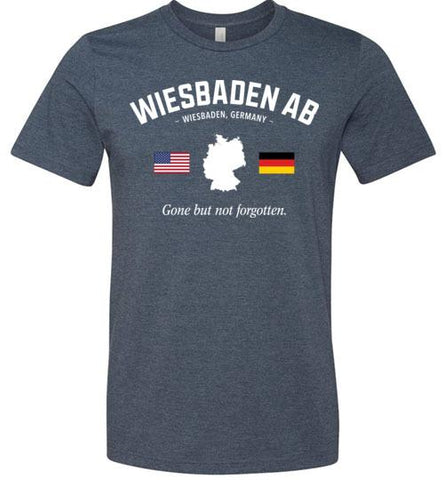 "Wiesbaden AB ""GBNF"" - Men's/Unisex Lightweight Fitted T-Shirt-Wandering I Store"