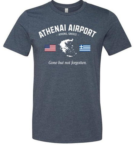 "Athenai Airport ""GBNF"" - Men's/Unisex Lightweight Fitted T-Shirt-Wandering I Store"