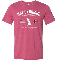 "RAF Uxbridge ""GBNF"" - Men's/Unisex Lightweight Fitted T-Shirt-Wandering I Store"