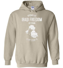 "Operation Iraqi Freedom ""Camp Cedar II"" - Men's/Unisex Hoodie-Wandering I Store"